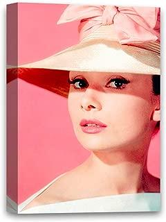 Audrey Hepburn Printed Art Housewarming Decor Gift Cute Hepburn Canvas Pink Hat Canvas Print Art 8