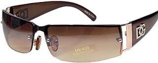 efbb9def0722 NEW DG MENS WOMENS RECTANGULAR RIMLESS DESIGNER SUNGLASSES SHADES EYEWEAR  COLOR-Gold Brown lens