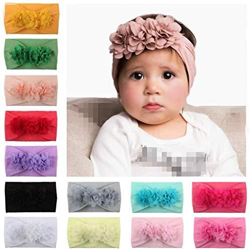 LAEMALLS 13PCS Bebé diadema, Recién nacido diadema, Elásticas diademas, Niñas bebe accesorios,...