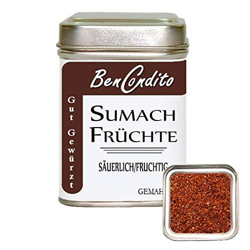 BenCondito - Sumach Gewürz- gemahlene Sumachfrüchte ( Zitronenersatz ) 90 gr.