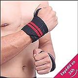 Fit & Healthy ★ Protège-Poignets Sport Bracelets Bandes de Protection maintenant les Poignets lors de Musculation, Haltérophilie, Gymnastique, Fitness, Roller, Skate, VTT. ♡❤