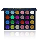 Aolailiya 24 Color Pressed Glitter Eyeshadow Palette - Mineral Ultra Shimmer Makeup Palette Eye Shadow Powder Long Lasting Waterproof