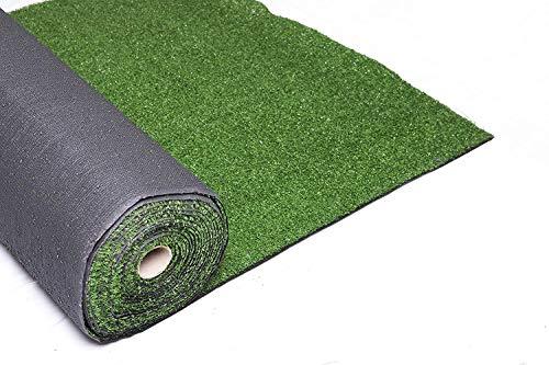 XONE Prato Golf Verde Artificiale 7mm x h2x10 mt - Tot. 20m²   Erba Giardino Artificiale   Tappeto Verde Erba   Manto Prato Sintetico 7MM
