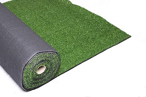 XONE Prato Golf Verde Artificiale 7mm x h2x10 mt - Tot. 20m² | Erba Giardino Artificiale | Tappeto Verde Erba | Manto Prato Sintetico 7MM