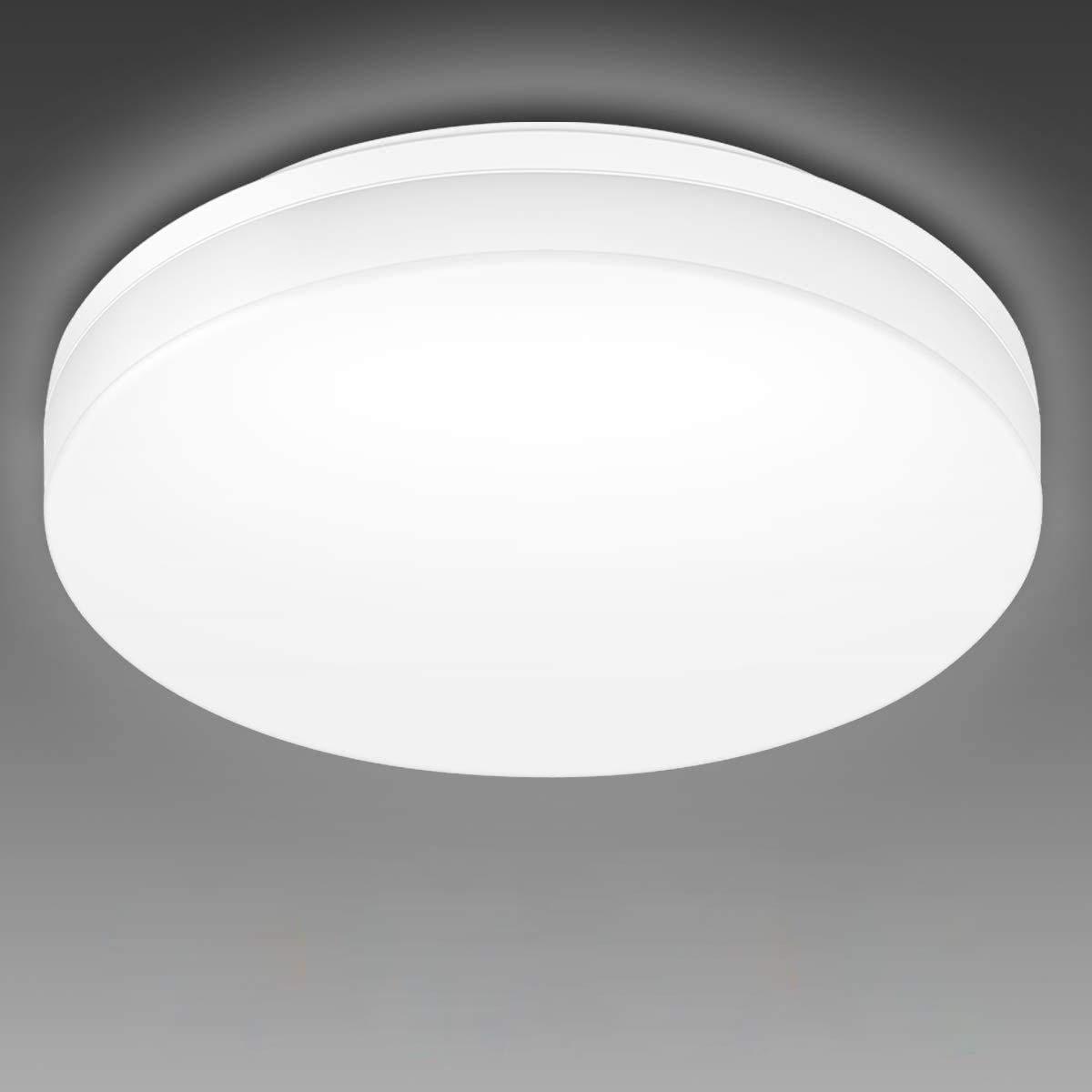 LE 10W Deckenlampe, LED Deckenleuchte IP10 Wasserfest, Ø10 10K Badlampe,  1000LM Kaltweiß Licht Badezimmer Lamp, Rund Flach Leuchte Decken Ideal für