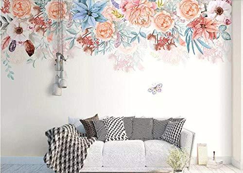 Tamaño personalizado moderno minimalista 3D pintado a mano acuarela pluma flor lirio hermoso fondo de pantalla behang 350×245cm