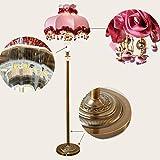 Haushalt Startseite Stehlampe, Stehende Leseleuchte, Stehlampe Wohnzimmer Vertikale Stehlampe Schlafzimmer Nachttischlampe Gartenlampe Tuch Rose Rot Kreatives Teelicht Kupferlampe Augenschutz Vertika