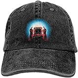 Photo de dooba Male's Girls Cricket Cap,Negative Spaceman Jeanet Hat for Boy Woman Unisex Black par