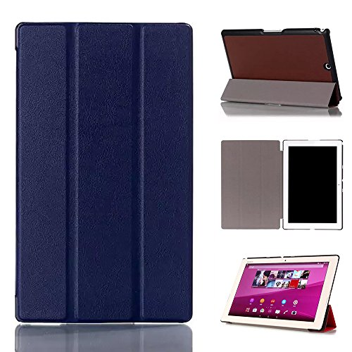 Ceavis Sony Xperia Z3 Tablet Compact ケース オートスリープ機能付き スタンド機能付き 耐衝撃 折り畳み 横開き 軽量型 (Sony Xperia Z3 Tablet Compact, ブルー)