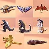 LIULL Godzilla Caractère Animé Modèle King of The Magic Monsters Slaki Dinosaur Décoration Jouets pour Enfants 8 Pièces
