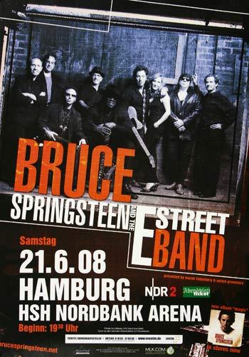 Bruce Springsteen - Magic, Hamburg 2008 » Konzertplakat/Premium Poster | Live Konzert Veranstaltung | DIN A1 «