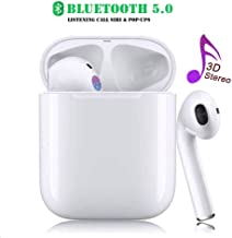 Bluetooth Headphones Wireless Earbuds Auto Pairing Stereo Earphones Cordless Headphones Sweatproof Mini Headsets for iOS iPhone XS/XR/X/8/7 Plus iPad Android Sumsung Galaxy S7 S8 S9 S10 Plus