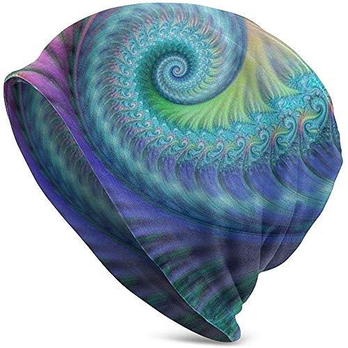 Yuanmeiju Gorros Unisex Fractal Turquesa Octopus Hippie Art Adult Comfortbale Soft Slouchy Knit Hats Skull Cap