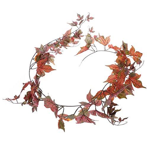 WINOMO l'automne de la plante de la Garland de la feuille d'érable de l'automobile d'automne de 1.8 m Laisse le cadeau spécial de Noël