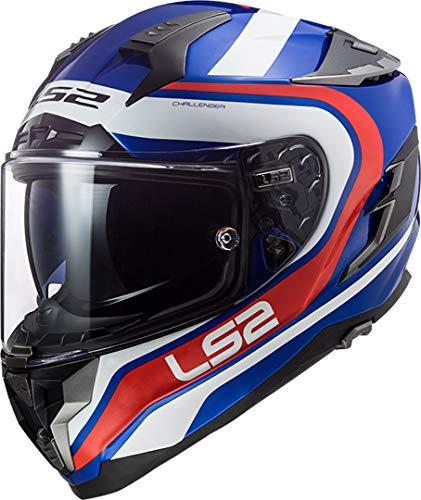 LS2 NC FF327 Challenger Fusion Azul M, Hombre, Bleu/Blanc/Rouge