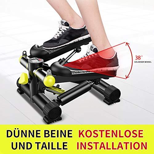 ZZZTWO Männer Multifunktions Aerobic-Stepper, Home Sportgerät, Verstellbarem rutschfeste LED Monitor (Bis 135kg)