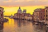 FAWFAW Puzles Adulto De 1500 Piezas, Panorama del Atardecer del Canal De Venecia, Ciudad Italiana 1500/1000/500/300 Piezas