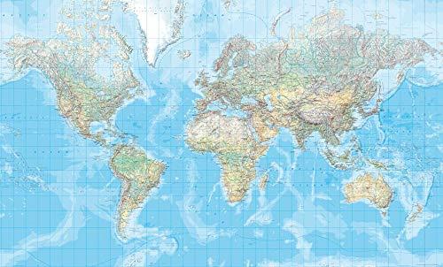 Kümmerly & Frey Poster, Welt, physisch, 3 Bl. (Kümmerly+Frey Welt- und Kontinentkarten)