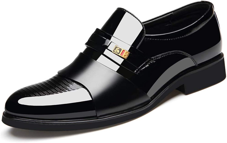 ZHRUI Polierte Lackleder Schuhe für Männer Formale Rutschfeste Rutschfeste Rutschfeste weiche Sohle Business Schuhe (Farbe   Schwarz, Größe   EU 42)  abf8b9