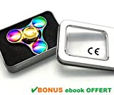 TRUST Me Hand Spinner Metal Multicolore - Fidget Toy en alliage de Zinc arc en ciel - anti stress -...