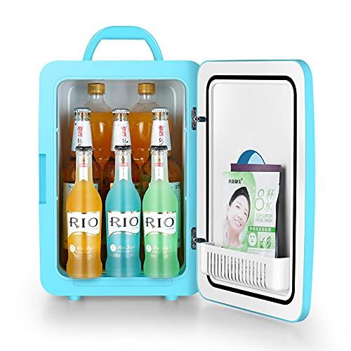 Kanpans Refrigerador pequeño de doble propósito para automóvil y hogar, refrigerador personal portátil compacto para enfriar y calentar, muy adecuado para el cuidado de la piel, alimentos, leche mater