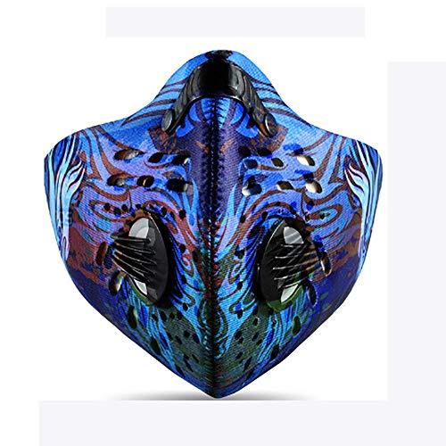 LIYOUPIN El Humo Máscaras, Máscaras De La Contaminación por Polvo, Máscaras Protectoras PM2.5, Viento Bicicleta Y Mascarillas contra El Polvo, Máscaras Lavable Y Reutilizable,B