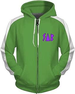 HPY Cosplay Hoodie Costume Sweatshirt Goku Jacket Christmas Halloween, Green S-3XL