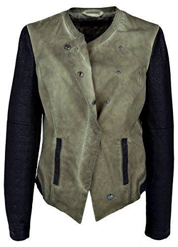 Iwea Exclusive Collection dames kunstlederen jas overgangsjas vintage stijl - IW011