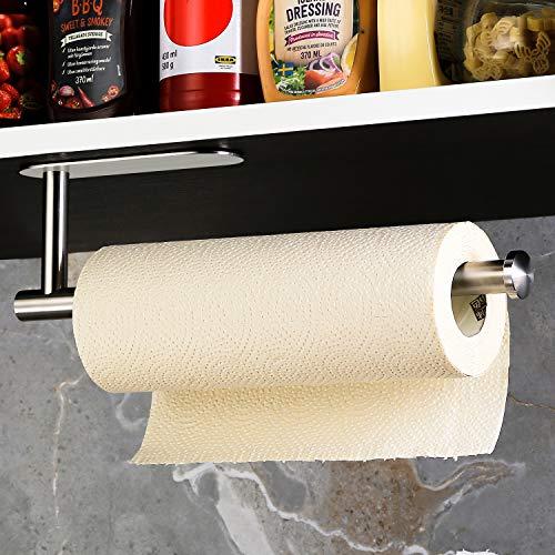 DeprikKitchen Roll Holder under Cabinet, Paper Roll Holder Self Adhesive...