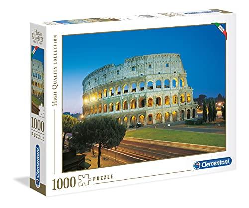Clementoni- High Quality Collection-Roma, Colosseo Puzzle-1000 Pezzi, Multicolore, 39457