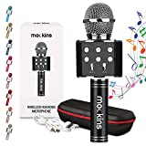 mockins Wireless Bluetooth Karaoke Microphone with Built in Bluetooth Speaker All-in-One Karaoke Machine | Compatible with Android & iOS iPhone - Black Color