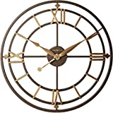 Howard Miller York Station Wall Clock 625-299 – Modern & Round with Quartz Movement