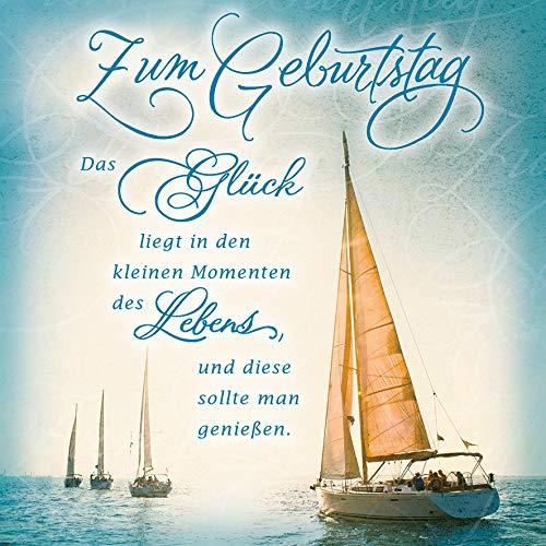 Geburtstagskarte Romantica - Segelboot - 15 x 15 cm