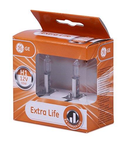 GE General Electric H1 12V 55W Halogen Extra Life 2er Set 50310DPU P14,5s in der GE box