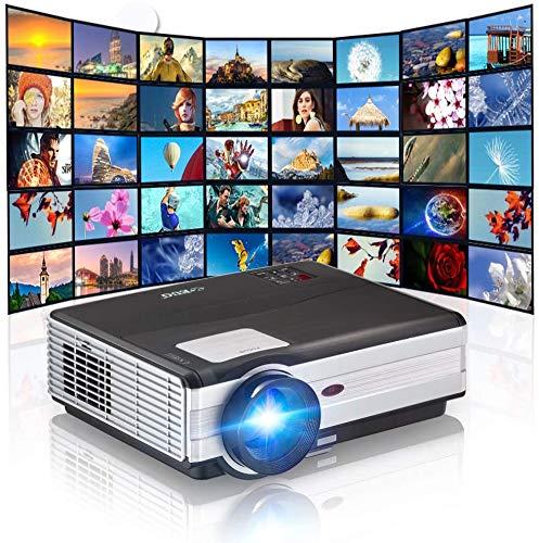 CAIWEI 4000 lumen wireless video Proiettori Supporto Full HD, proiettore LCD multimediale a LED per Home Theatre WiFi con HDMI USB Altoparlanti sistema VGA Android Telecomando per smartphone portatile