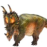 PNSO 5.9in Spinops Centrosaurus Styracosaurus Jurassic Dinosaur PVC Realistic Animal Models Educational Painted Figure Figurine Toys Dino Collector Decor Gift Birthday Party for Adult