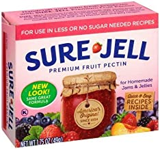Sure-Jell Premium Fruit Pectin for Use in Less or No Sugar Needed Recipes 1.75 oz. Box