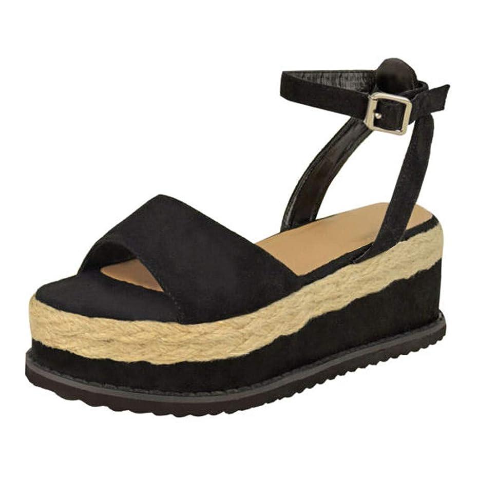 復讐磁石狭いレディース サンダル Zoiearl ミッドヒール 靴 ローヒール 大きいサイズ フラワー 女性用シューズ かわいい 花柄 ペタンコ アンクルストラップ 編込み ビジュー ラインストーン アンクル 靴 夏 歩きやすい 身長アップ