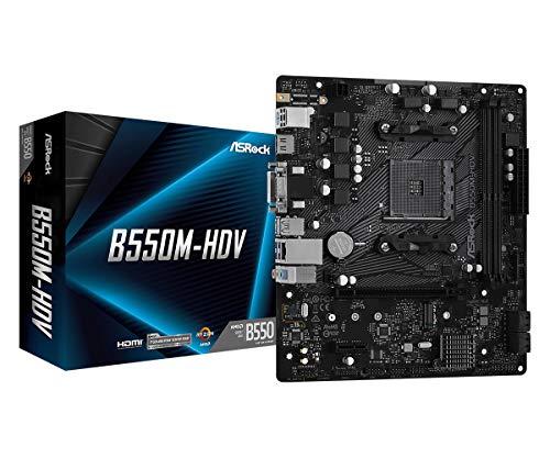 ASRock B550M-HDV Supports 3rd Gen AMD AM4 Ryzen/Future AMD Ryzen Processors...