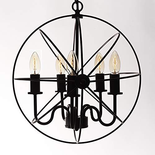 Opis PL1 Industriële Hanglamp gemaakt van Metaal/Retro Plafond Lamp van Zwart Metaal