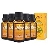 Ownest 5 Pack Ginger Massage Oil,100% Pure Natural Lymphatic Drainage Ginger Oil,SPA Massage Oils,Repelling Cold and Relaxing Active Oil-30ml