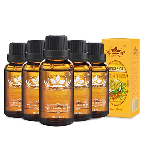 Check Out This Ownest 5 Pack Ginger Massage Oil,100% Pure Natural Lymphatic Drainage Ginger Oil,SPA ...