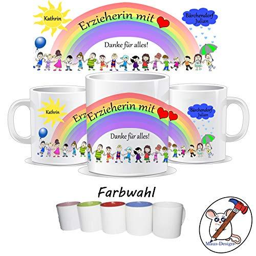 Tasse für die Erzieherin mit Herz/Danke für alles/Personalisierbar mit dem Namen des Kindes, der Gruppe und der Erzieherin/GESCHENKIDEE ERZIEHER/IN/Tasse Erzieherin/Tasse Erzieher