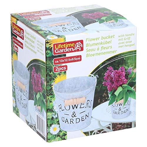 Lifetime Garden Lot de 2 pots de jardin Shabby Chic