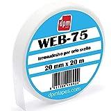 Web 75 - Cinta termoadhesiva para dobladillo desvelado, también para tejidos gruesos, doblada rápida sin costuras, 20 mm x 20 m,