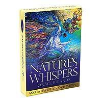 Nature's Whispers Oracle EGuideブック付きの完全英語版のタロットデッキEinstructionカードゲーム占いゲームは運命予測カードゲームを設定します