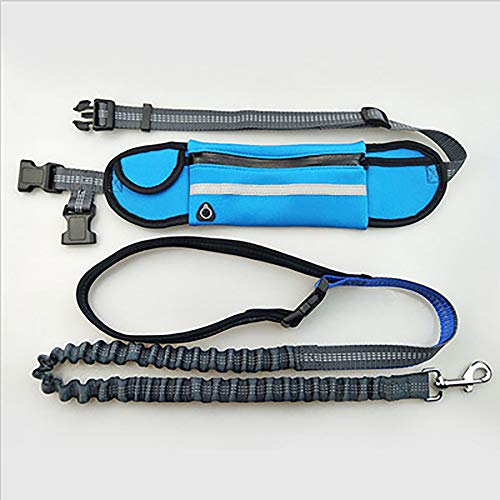 ZUEN Elastische Taille Hundeleine Laufen Joggen Hund Sportprodukte Einstellbar Reflektierende Nylon Hundegürtel Große Und Mittlere Größe Hunde Gürtel Haustier Zubehör,A4