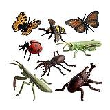 SWECOMZE 8 Stück Tiersammlung Insekten, Kunststoff Insekten Spielzeug