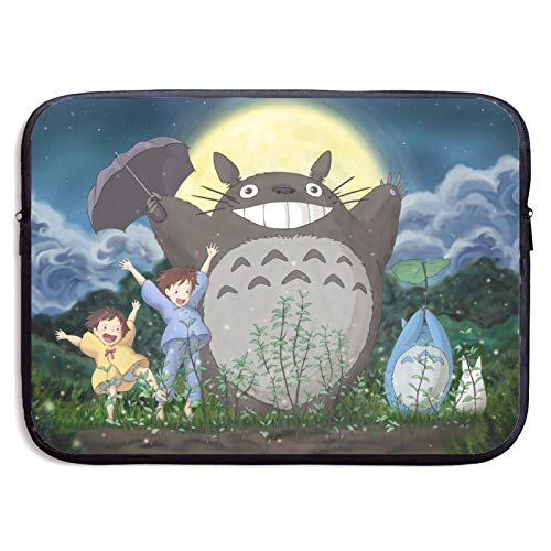 My Neighbor Totoro Moonlight Laptop Sleeve Bag Tablet Fashion Briefcase Ultra Portable Protective Cover MacBook Air MacBook Pro Notebook Computer Sleeve Case 15 inch