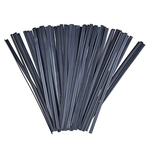 Anyumocz 1000 pcs 5 inches Plastic Black Twist Ties for Party Cello Candy Bags Cake Pops (Black)